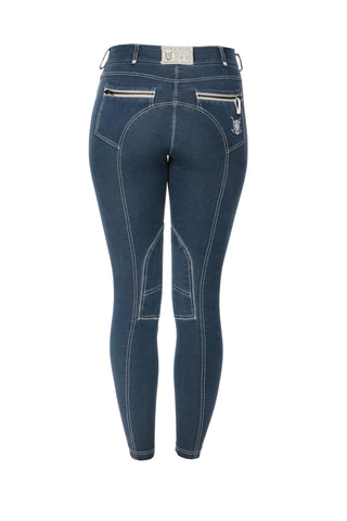 Horseware Adalie Ladies Breeches Denim Blue
