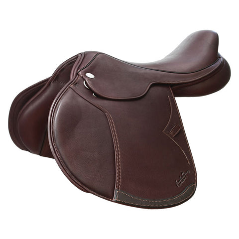 17.5  Black Jeninne Jumping Gentec System Santa Cruz Saddle