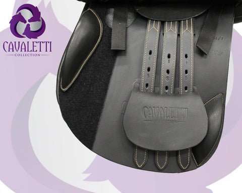 17.5  Black Jump Cavaletti Collection Saddle