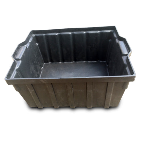 Bin Black Square Large Plastic