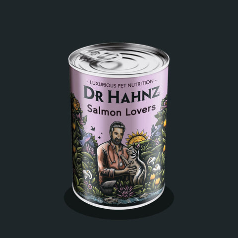 Dr Hahnz Tin Cat Salmon Lovers 415g each
