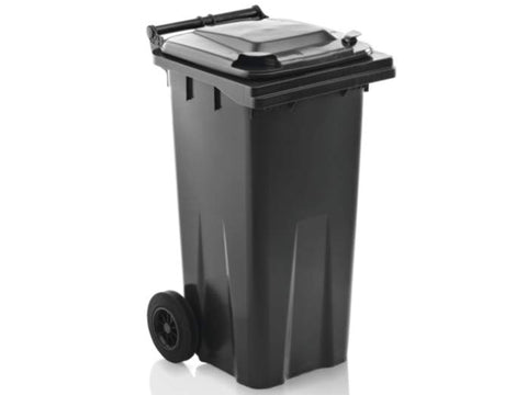 Black Dustbin On Wheels