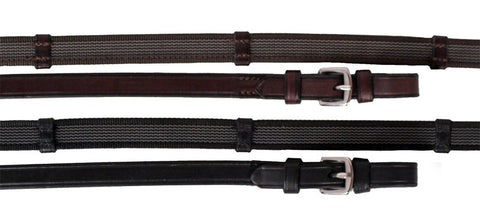 Full Black Suregrip Cleated Reins