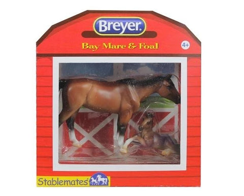 Breyer Stable mates Bay Mare & Foal
