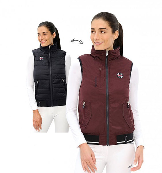 Spooks Ameli Vest Bordeaux/Navy
