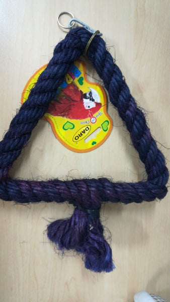 Bird Toy - Triangle Rope