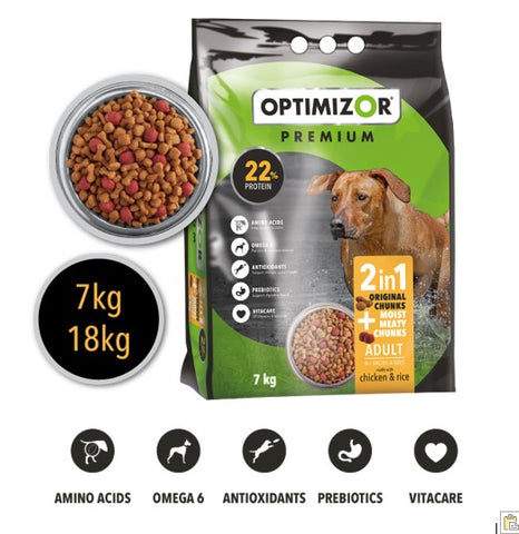 Optimizor Adult Moist Meaty Chunks 18kg