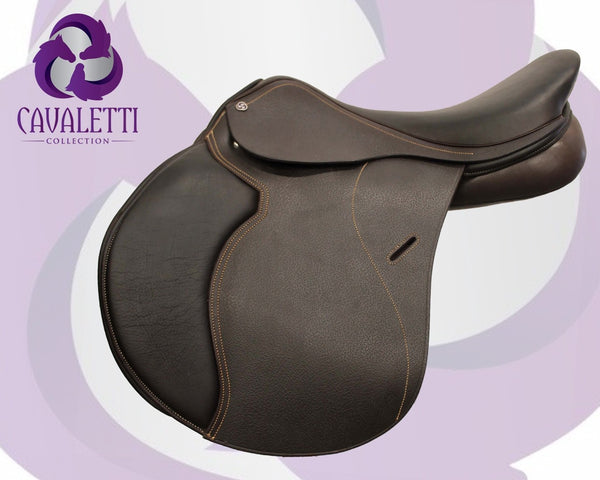 17.5  Brown Jump Cavaletti Collection Saddle