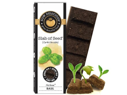 Sow Delicious - Basil slab of seed