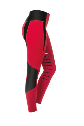 Horseware Tech Riding Tights Red