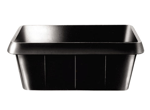 Bin Black Square Large Rubber