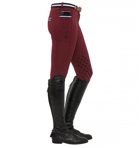 Spooks Leena Knee Grip Breeches Bordeaux