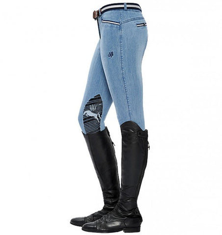Spooks Ricarda Knee Grip Breeches Light Denim