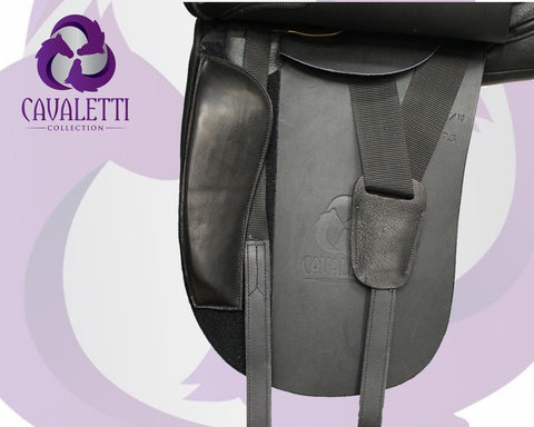 17.5  Black Dressage Cavaletti Collection Saddle