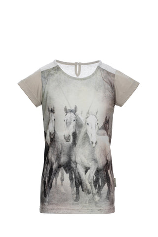 Horseware Girls Novelty Tee Oatmeal
