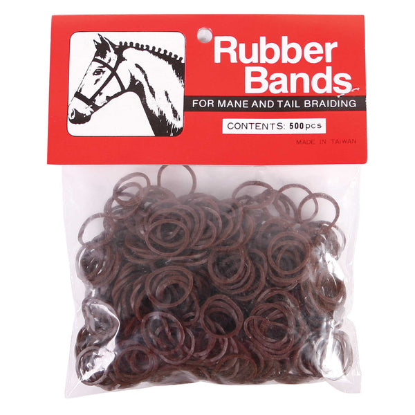 Brown Large Plaiting Elastics