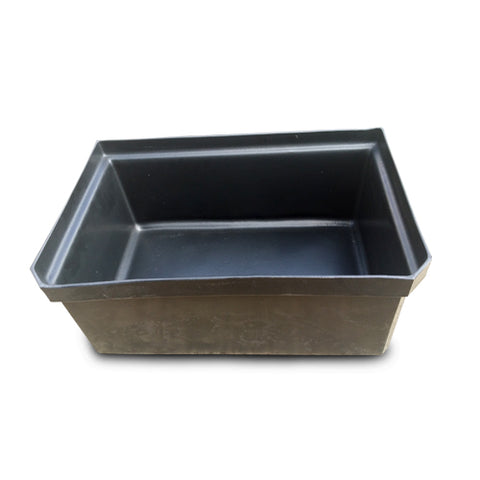 Bin Black Square Medium Plastic