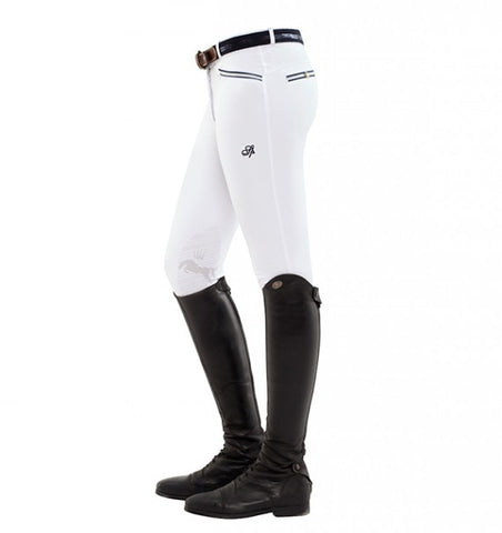 Spooks Ricarda Knee Grip Breeches White