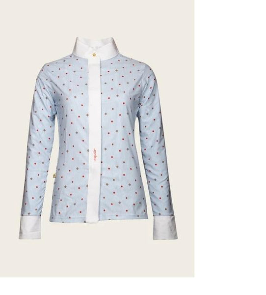 Espoir Sky Blue Beetle & Daisy Formal Button UV Show Shirt