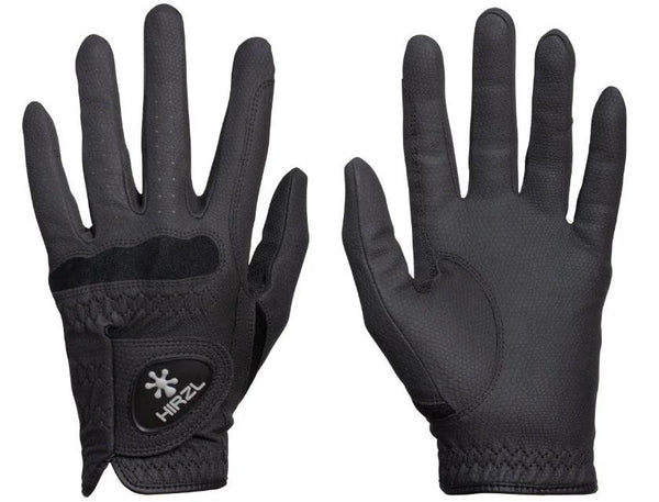 Hirzl Black Basic Equestrian Gloves