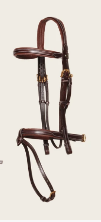 Red Brown Padded Removable Flash Bridle Tnt
