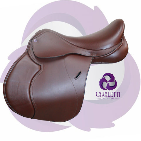 17.5  Brown Synthetic Gp Cavaletti Collection Saddle