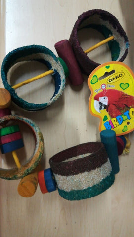 Bird Toy Sand Rings On Rope Large