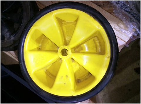 Green Wheelbarrow Wheel Each