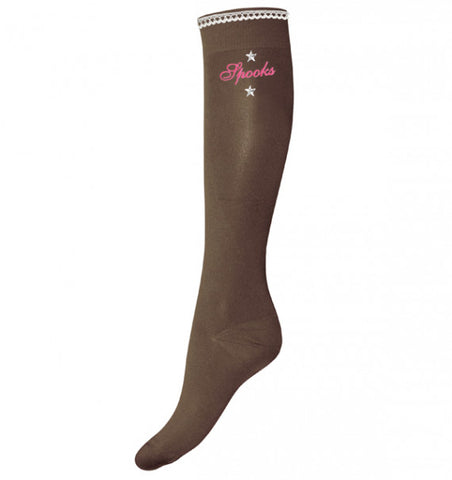 Ladies Taupe Chantal Spooks Socks