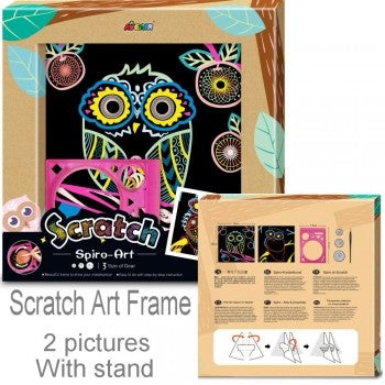Avenir Scratch Art - Owl