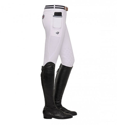 Spooks Leena Knee Grip Breeches White
