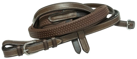 Full Brown Eventa Rubber Reins Tnt