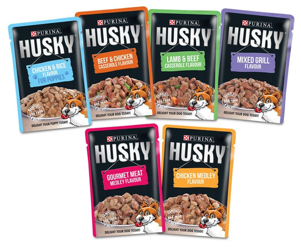 Husky Mixed Grill  Pouch 85G each