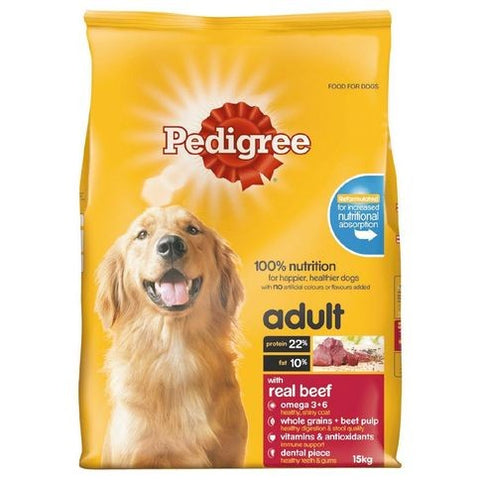 PEDIGREE ADULT BEEF 15KG