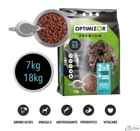 Optimizor Adult 2 In 1 Gravy Coated 18kg
