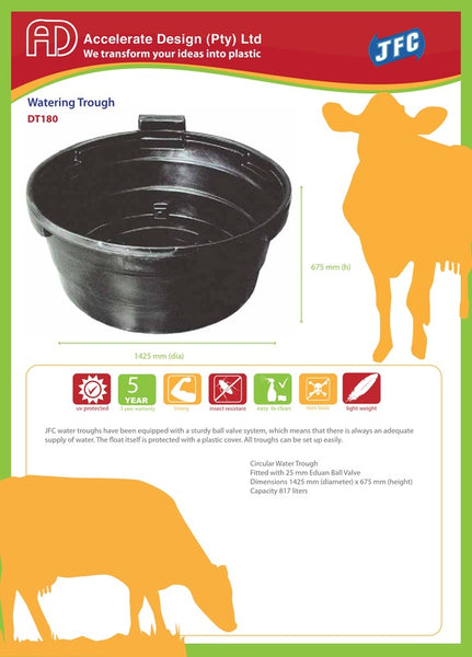 817Lt Water Trough Dt 180 BLACK