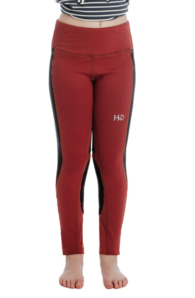 Horseware Kids Riding Tights Redwood