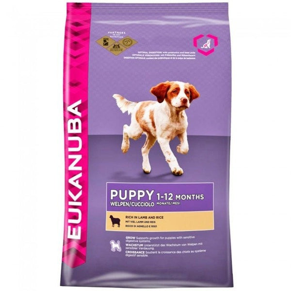 Eukanuba Puppy Small & Medium Breed Lamb & Rice 12kg