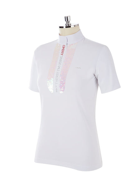 Animo Bilo White Shortsleeve Woman's Shirt
