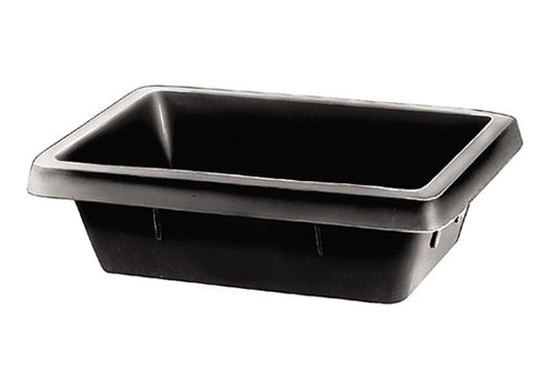 Bin Black Square Small Rubber