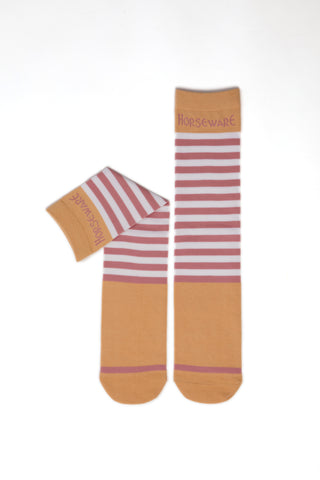 Horseware Childrens Knee Socks 2 Pack Pink Blossom