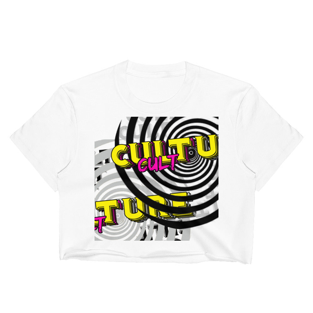 CULTure White Crop Tee