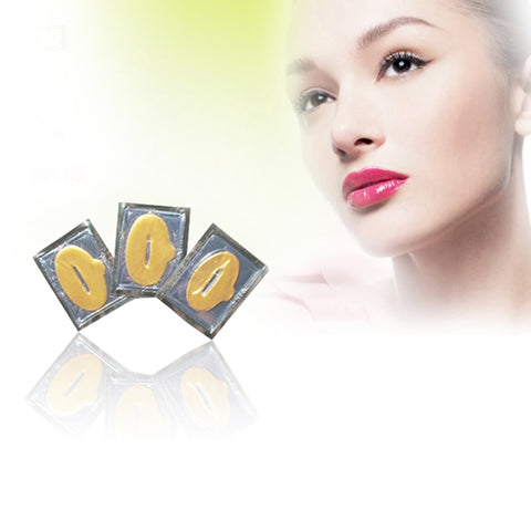10PCS Gold Crystal Collagen Lip Mask