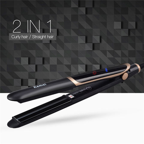 2 in 1 Infrared Flat Iron Curler