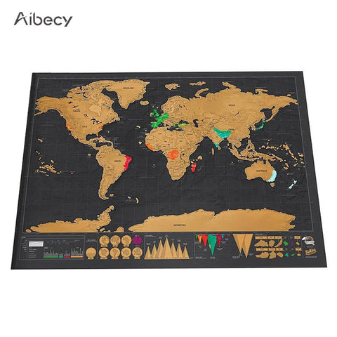 Scratch Off World Travel Map