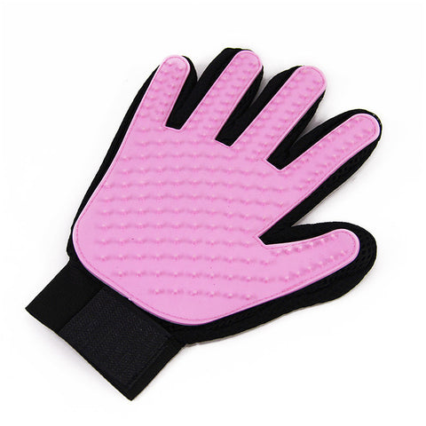 Unique Pet Deshedding Brush Glove for Cats & Dogs