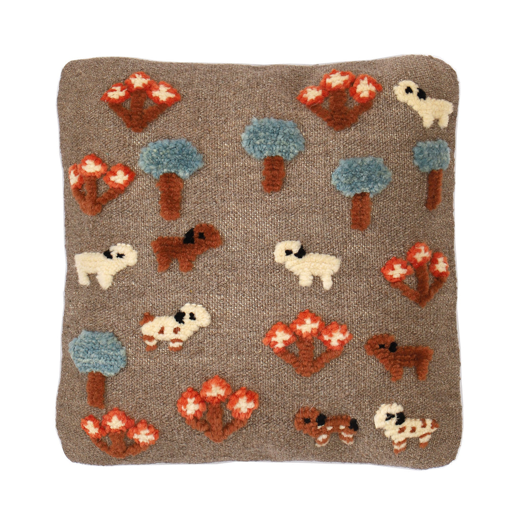 Mini Cushion - Lambs Meeting