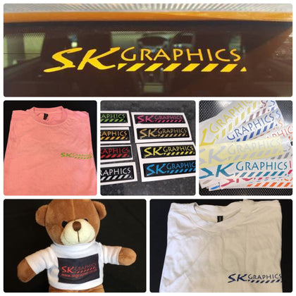 SK Graphics Branded products