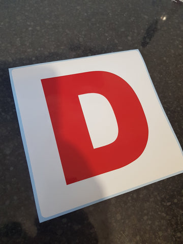 Novelty D or C Stickers