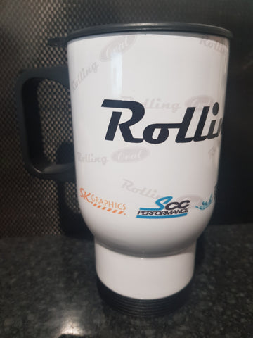 Rolling Oval Travel Mug